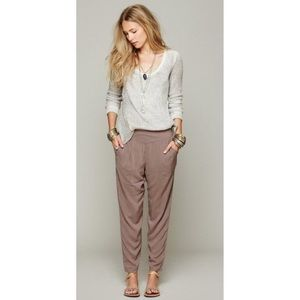 Free People Easy Pleat Pants in Taupe